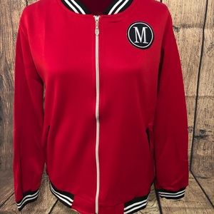 Jackets & Blazers - ☄️NWT RED NYLON ZIP JACKET